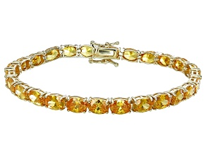 Bella Luce® 24.70ctw Oval Yellow Diamond Simulant 18k Gold Over Silver Bracelet