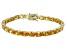 Bella Luce® 24.70ctw Oval Yellow Diamond Simulant 18k Gold Over Silver Bracelet