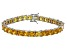 Bella Luce® 48.21ctw Yellow Diamond Simulant Rhodium Over Silver Bracelet