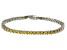 Bella Luce® 9.31ctw Round Yellow Diamond Simulant Rhodium Over Silver Bracelet