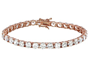 Bella Luce® 25.84ctw Round Diamond Simulant 18k Rose Gold Over Silver Bracelet