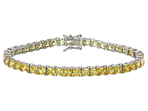 Bella Luce® 17.96ctw Yellow Diamond Simulant Rhodium Over Silver Bracelet