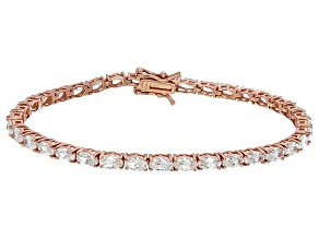 Bella Luce® 11.63ctw Oval Diamond Simulant 18k Rose Gold Over Silver Bracelet