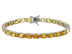 Bella Luce® 24.70ctw Oval Yellow Diamond Simulant Rhodium Over Silver Bracelet
