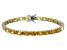 Bella Luce® 24.70ctw Oval Yellow Diamond Simulant Rhodium Over Silver Bracelet