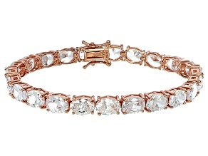 Bella Luce® 40.42ctw Oval Diamond Simulant 18k Rose Gold Over Silver Bracelet