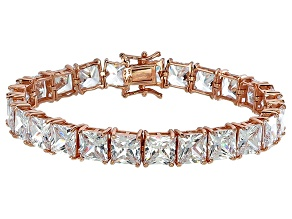 Bella Luce® 62.94ctw Diamond Simulant 18k Rose Gold Over Silver Bracelet
