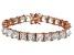 Bella Luce® 62.94ctw Diamond Simulant 18k Rose Gold Over Silver Bracelet