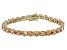 Bella Luce® 35.82ctw Diamond Simulant 18k Yellow Gold Over Silver Bracelet