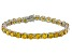 Bella Luce® 35.82ctw Round Yellow Diamond Simulant Rhodium Over Silver Bracelet