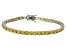 Bella Luce® 16.96ctw Round Yellow Diamond Simulant Rhodium Over Silver Bracelet