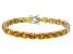 Bella Luce® 40.42ctw Oval Yellow Diamond Simulant 18k Gold Over Silver Bracelet