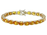 Bella Luce® 40.42ctw Oval Yellow Diamond Simulant 18k Gold Over Silver Bracelet