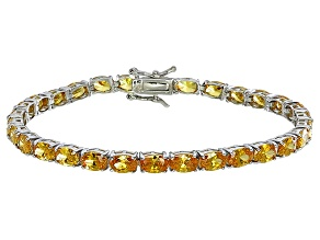 Bella Luce® 18.53ctw Oval Yellow Diamond Simulant Rhodium Over Silver Bracelet