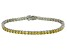 Bella Luce® 12.28ctw Yellow Diamond Simulant Rhodium Over Silver Bracelet