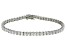 Bella Luce® 12.28ctw Princess Diamond Simulant Rhodium Over Silver Bracelet