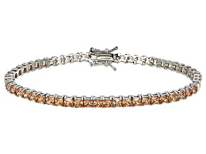 Bella Luce® 12.28ctw Champagne Diamond Simulant Rhodium Over Silver Bracelet