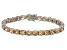 Bella Luce® 35.82ctw Champagne Diamond Simulant Rhodium Over Silver Bracelet
