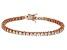 Bella Luce® 9.31ctw Round Diamond Simulant 18k Rose Gold Over Silver Bracelet