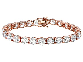 Bella Luce® 53.44ctw Round Diamond Simulant 18k Rose Gold Over Silver Bracelet