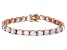 Bella Luce® 53.44ctw Round Diamond Simulant 18k Rose Gold Over Silver Bracelet