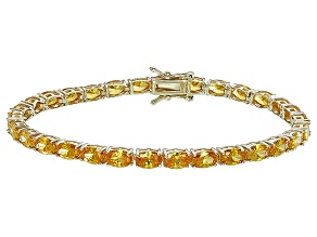Bella Luce® 18.53ctw Oval Yellow Diamond Simulant 18k Gold Over Silver Bracelet