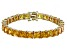 Bella Luce® 48.21ctw Yellow Diamond Simulant 18k Gold Over Silver Bracelet