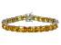 Bella Luce® 62.94ctw Yellow Diamond Simulant Rhodium Over Silver Bracelet