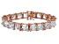 Cubic Zirconia Princess Cut Tennis Bracelet 18k Rose Gold Over Silver Bracelet 104.50ctw