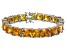 Bella Luce® 104.50ctw Yellow Diamond Simulant Rhodium Over Silver Bracelet
