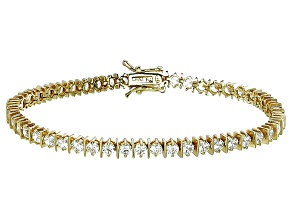 Bella Luce® 9.31ctw Round Diamond Simulant 18k Yellow Gold Over Silver Bracelet