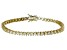 Bella Luce® 9.31ctw Round Diamond Simulant 18k Yellow Gold Over Silver Bracelet