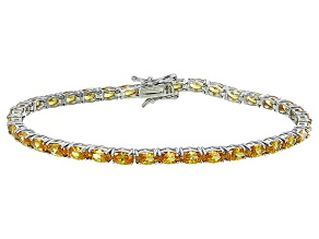 Bella Luce® 11.63ctw Oval Yellow Diamond Simulant Rhodium Over Silver Bracelet