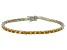 Bella Luce® 11.63ctw Oval Yellow Diamond Simulant Rhodium Over Silver Bracelet