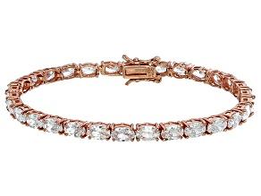 Bella Luce® 18.53ctw Oval Diamond Simulant 18k Rose Gold Over Silver Bracelet
