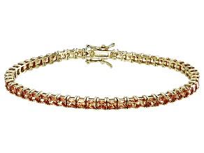 Bella Luce® 12.28ctw Diamond Simulant 18k Yellow Gold Over Silver Bracelet