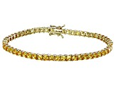 Bella Luce® 12.28ctw Diamond Simulant 18k Yellow Gold Over Silver Bracelet
