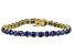 Bella Luce® 25.84ctw Tanzanite Simulant 18k Yellow Gold Over Silver Bracelet