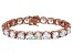 Bella Luce® 72.11ctw Round Diamond Simulant 18k Rose Gold Over Silver Bracelet