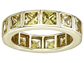 Bella Luce® 5.85ctw Yellow Diamond Simulant 18k Yellow Gold Over Silver Ring