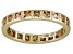 Bella Luce® 1.40ctw Champagne Diamond Simulant 18k Gold Over Silver Ring