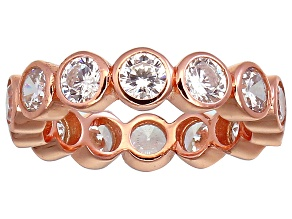 Bella Luce® 4.94ctw Round Diamond Simulant 18k Rose Gold Over Silver Ring