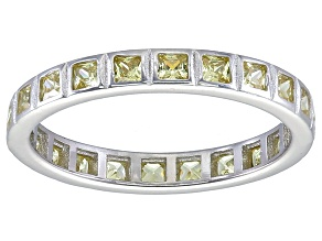 Bella Luce® 1.40ctw Princess Yellow Diamond Simulant Rhodium Over Silver Ring