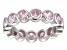 Bella Luce® 4.94ctw Round Pink Diamond Simulant Rhodium Over Silver Ring