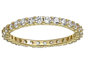 Bella Luce® 1.40ctw Round Diamond Simulant 18k Yellow Gold Over Silver Ring
