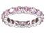 Bella Luce® 6.08ctw Round Pink Diamond Simulant Rhodium Over Silver Ring