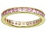 Bella Luce® 1.35ctw Pink Diamond Simulant 18k Yellow Gold Over Silver Ring