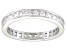 Bella Luce® 1.96ctw Princess Diamond Simulant Rhodium Over Silver Ring