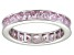 Bella Luce® 4.75ctw Princess Pink Diamond Simulant Rhodium Over Silver Ring