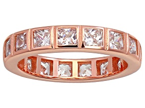 Bella Luce® 4.00ctw Princess Diamond Simulant 18k Rose Gold Over Silver Ring